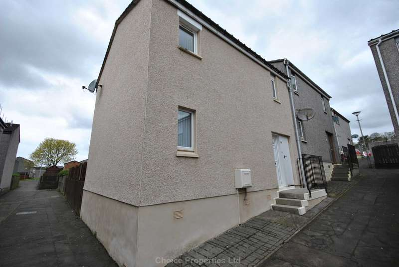 3 Bedrooms End Of Terrace House for sale in Lauder Court, Kilmarnock, KA3 7QL