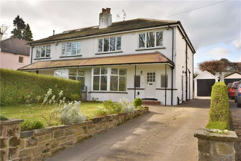 4 Bedrooms Semi Detached House for sale in West Park Drive East, Roundhay, Leeds