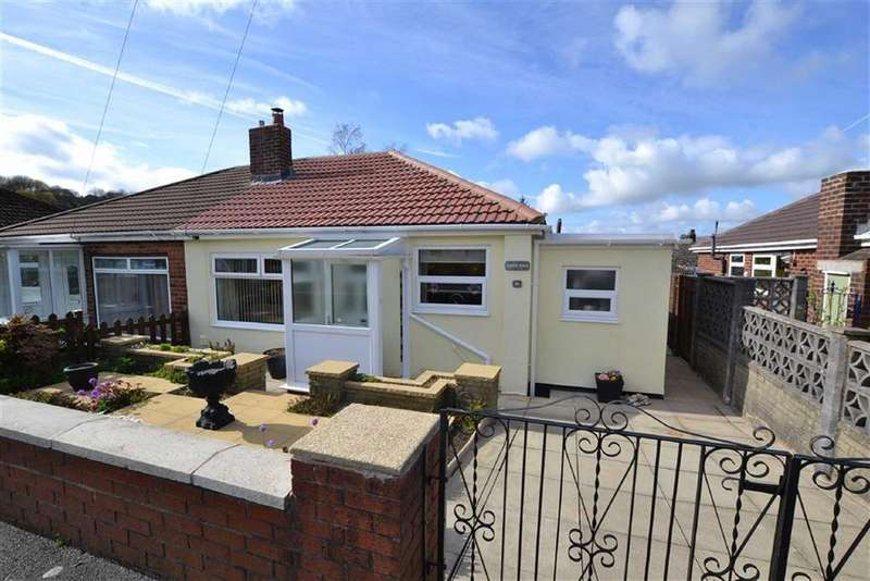 2 Bedrooms Semi Detached Bungalow for sale in Crow Wood Avenue, Burnley, Lancashire