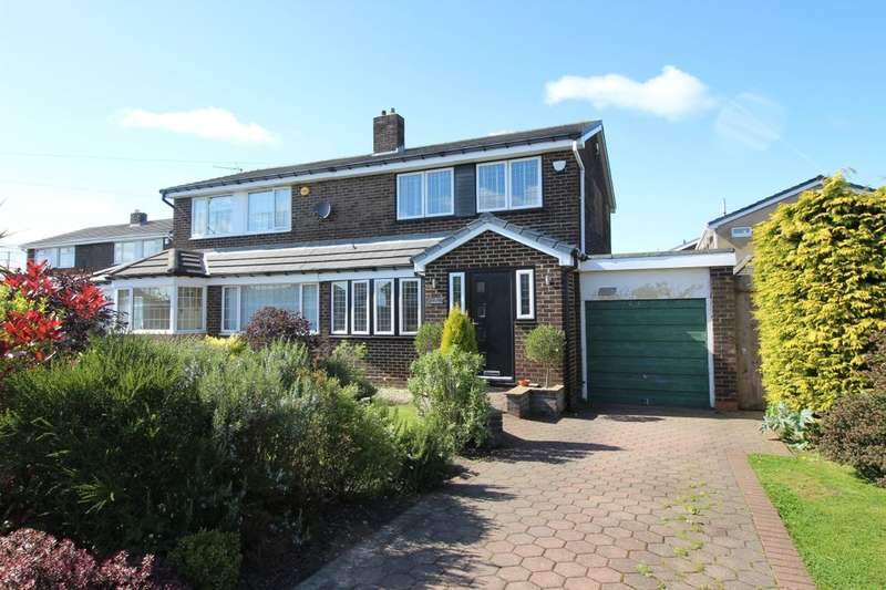3 Bedrooms Semi Detached House for sale in Beverley Drive, Winlaton, Blaydon-On-Tyne, NE21