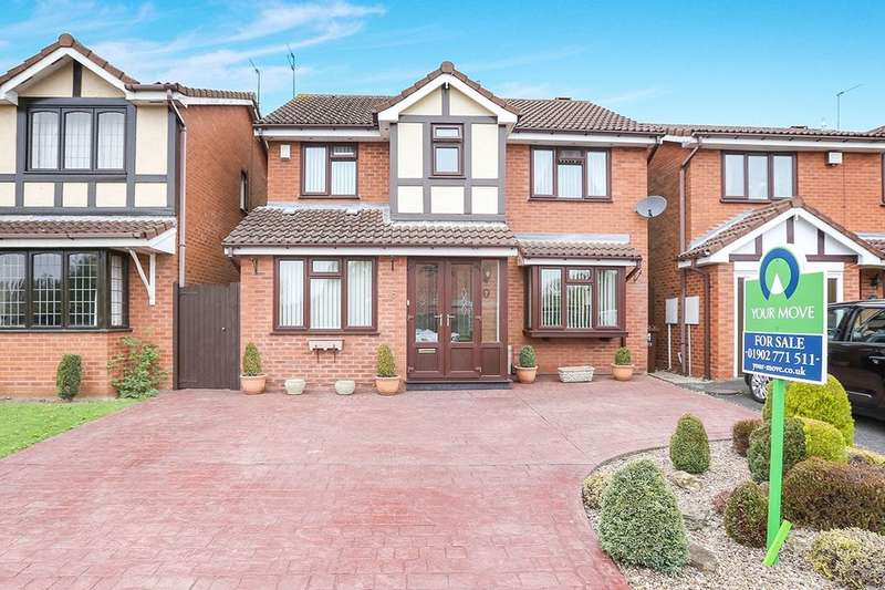 4 Bedrooms Detached House for sale in Fincham Close, Wolverhampton, WV9