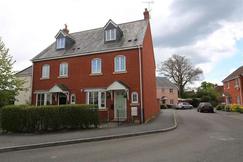 4 Bedrooms Semi Detached House for sale in Redvers Way, Tiverton