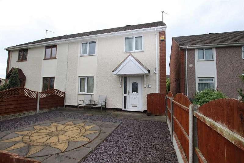 3 Bedrooms Semi Detached House for sale in Sullivan Walk, Lichfield, Staffordshire