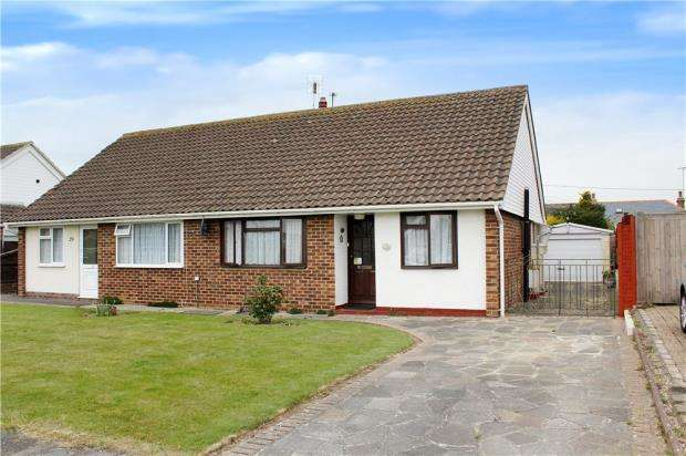 2 Bedrooms Semi Detached Bungalow for sale in Harting Road, Littlehampton, West Sussex, BN17