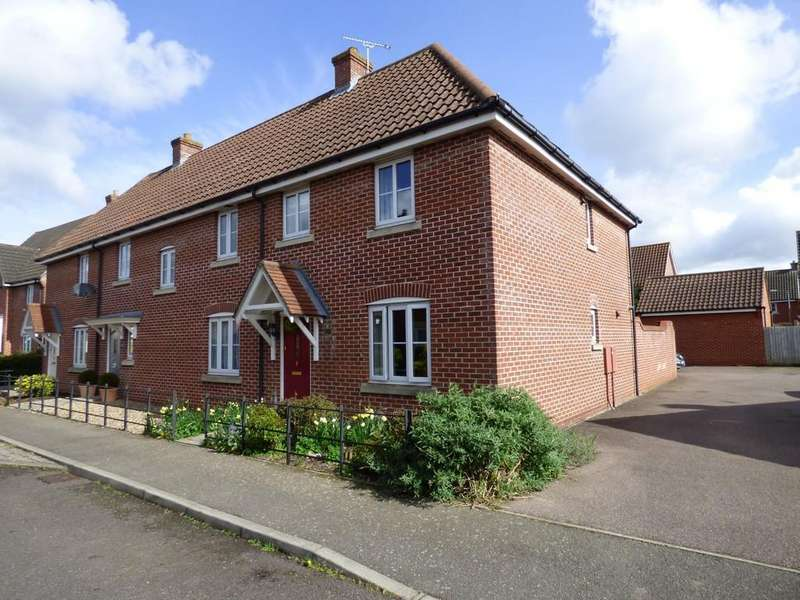 4 Bedrooms End Of Terrace House for sale in Churchfields Road, Long Stratton, Norwich