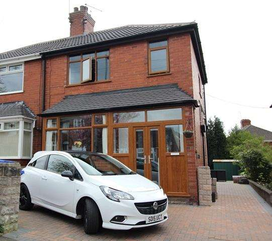 3 Bedrooms Semi Detached House for sale in ABBOTTS DRIVE, SNEYD GREEN, STOKE-ON-TRENT