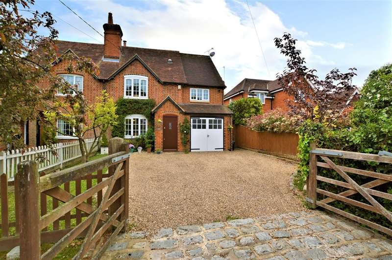 4 Bedrooms Semi Detached House for sale in Grange Cottages, Greensward Lane, Arborfield, Reading, RG2