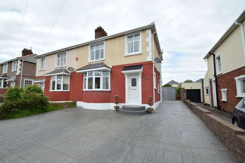 3 Bedrooms Semi Detached House for sale in 8 Parcau Avenue, Bridgend, Bridgend County Borough, CF31 4SY.