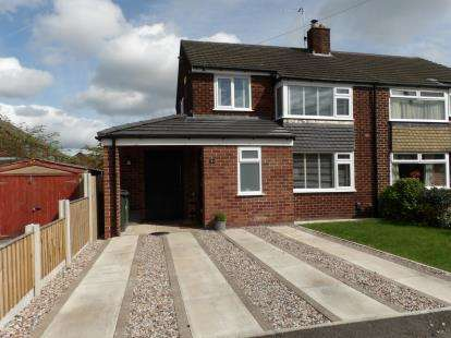 3 Bedrooms Semi Detached House for sale in Welwyn Close, Thelwall, Warrington, Cheshire, WA4