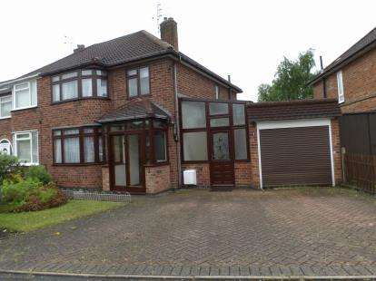 3 Bedrooms Semi Detached House for sale in Fieldgate Crescent, Birstall, Leicester, Leicestershire