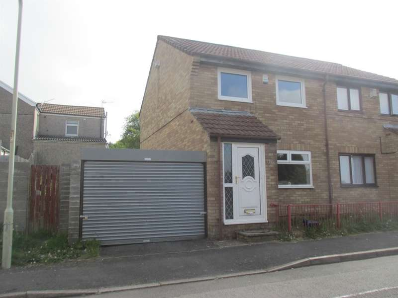 3 Bedrooms Semi Detached House for sale in Berry Square, Dowlais, Merthyr Tydfil