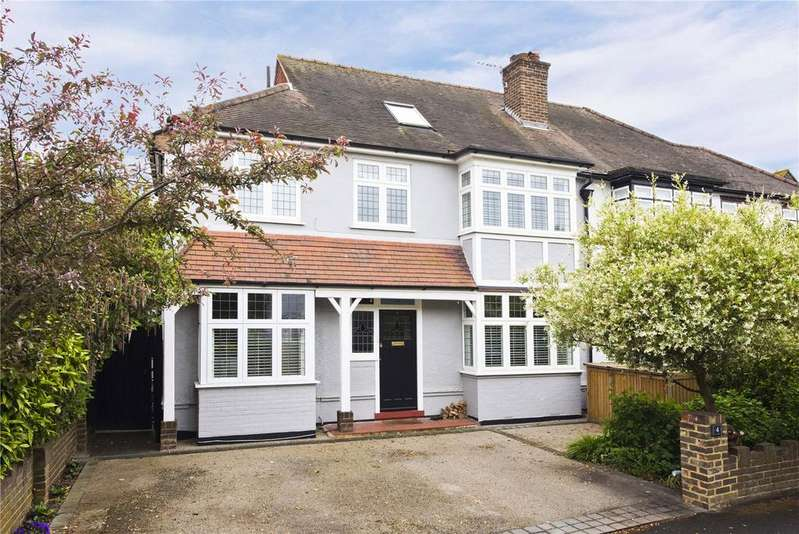 4 Bedrooms Semi Detached House for sale in Clinton Avenue, East Molesey, Surrey, KT8