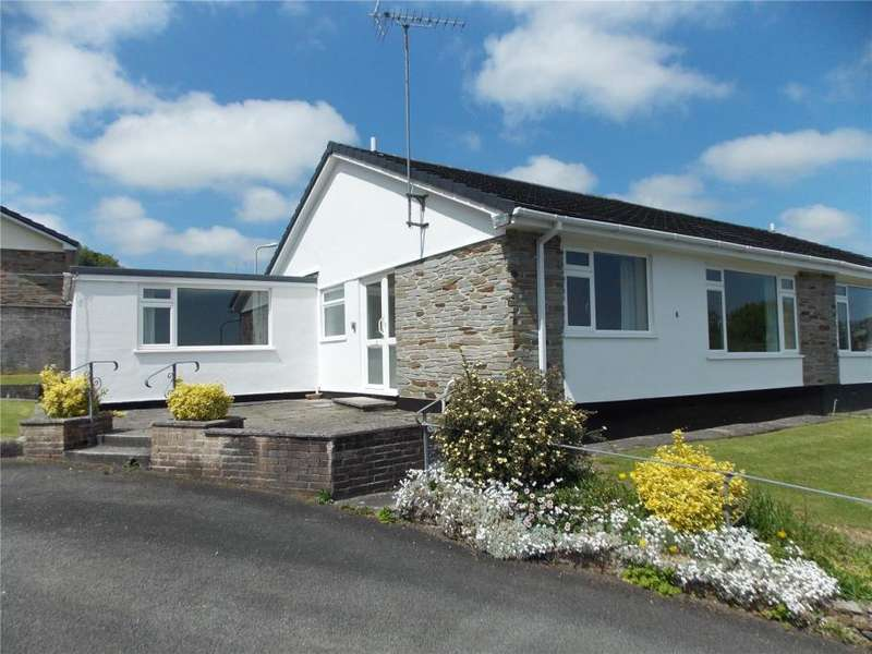 2 Bedrooms Semi Detached Bungalow for sale in Hornapark Close, Lifton, Devon