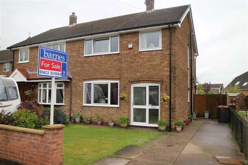 3 Bedrooms Semi Detached House for sale in Sutton Close, Skegby, Notts, NG17