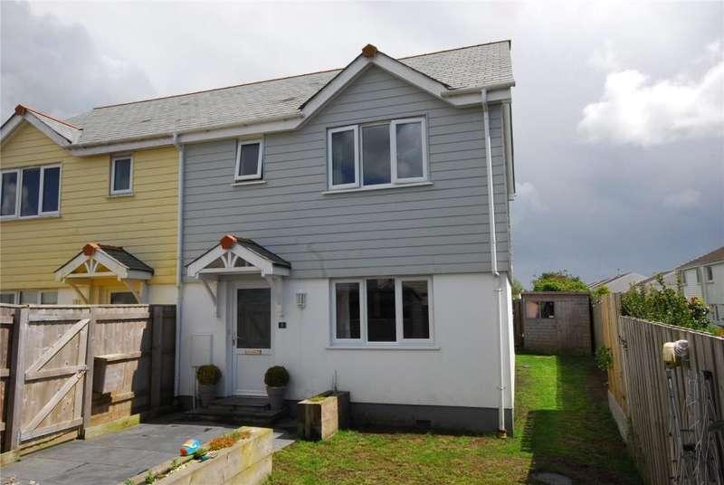 3 Bedrooms Semi Detached House for sale in Kew Vownder, Shortlanesend, Truro