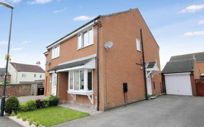 2 Bedrooms Semi Detached House for sale in Old Mill Row, Rymer Way, Thirsk YO7 1UQ