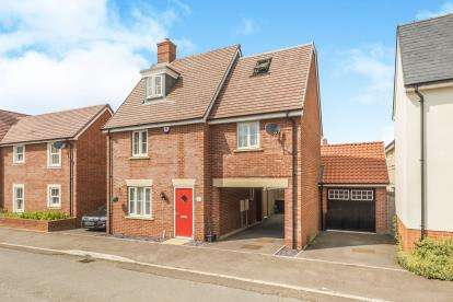 4 Bedrooms Detached House for sale in Betony Gardens, Stotfold, Hitchin, Bedfordshire
