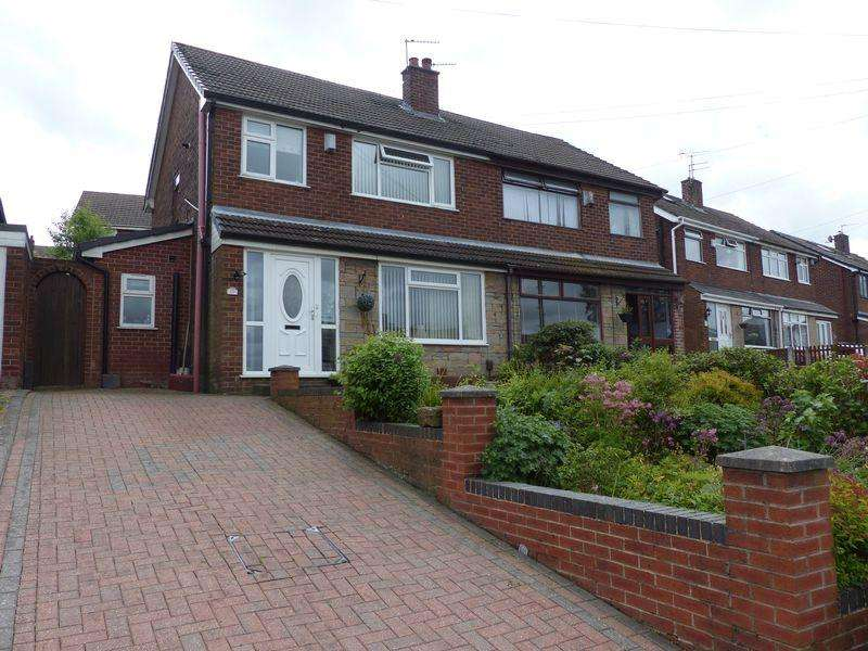 3 Bedrooms Semi Detached House for sale in Holcombe View Close Moorside