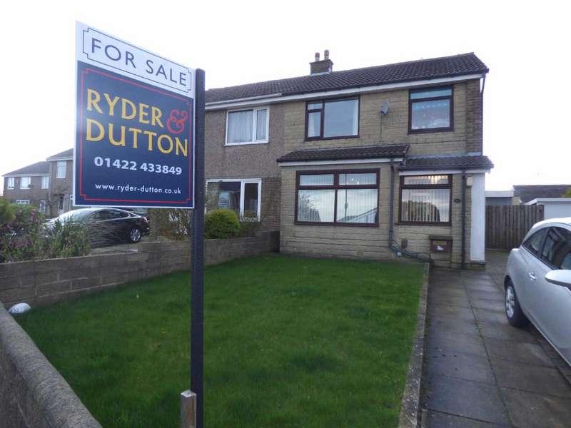 3 Bedrooms Semi Detached House for sale in Heathmoor Way, Illingworth, Halifax, West Yorkshire, HX2