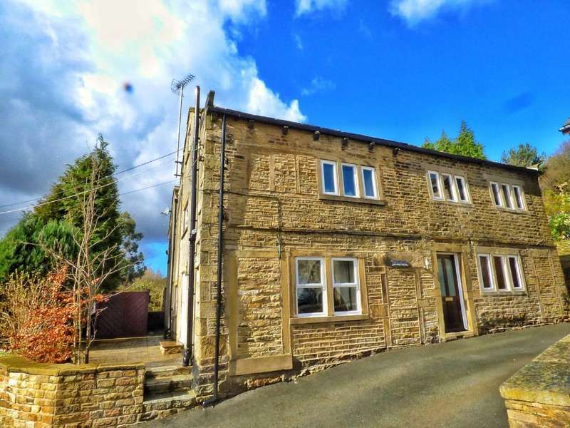 4 Bedrooms Semi Detached House for sale in Yew Tree Lane, Holmbridge, Holmfirth, West Yorkshire, HD9