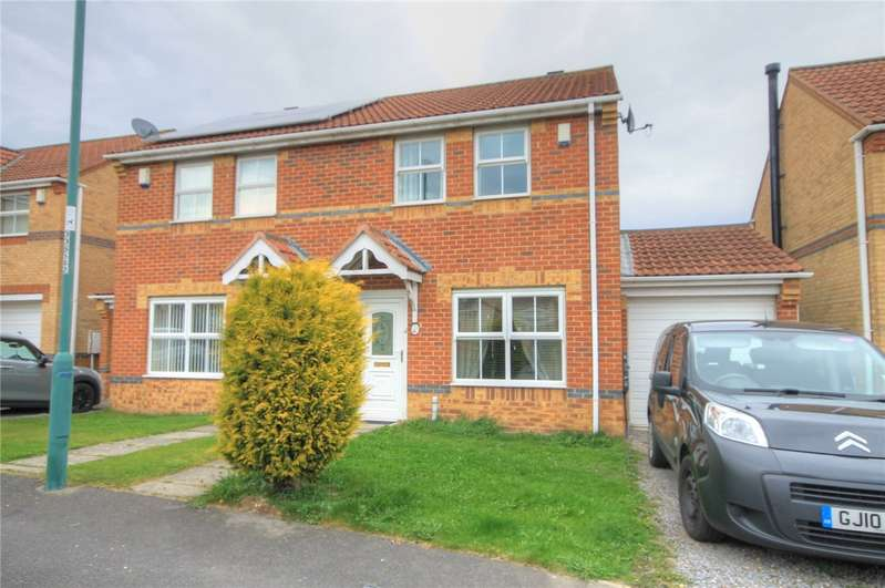 3 Bedrooms Semi Detached House for sale in Stanleyburn View, New Kyo, Stanley, DH9