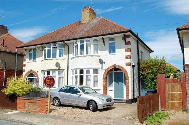 3 Bedrooms Semi Detached House for sale in Sandiland Road, The Headlands, Northampton NN3 2QD