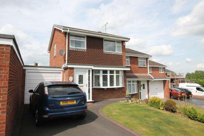 3 Bedrooms Semi Detached House for sale in Manor Rise, Arleston, Telford