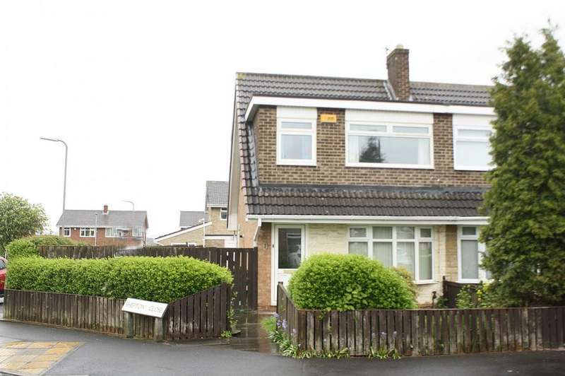 3 Bedrooms Semi Detached House for sale in Shepton Close, Stainsby Hill, Thornaby, TS17