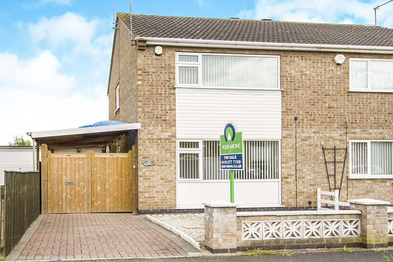 2 Bedrooms Semi Detached House for sale in Lancaster Way, Glen Parva, Leicester, LE2