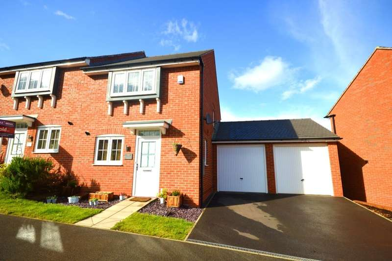 3 Bedrooms Semi Detached House for sale in Suffolk Way, Church Gresley, Swadlincote, DE11