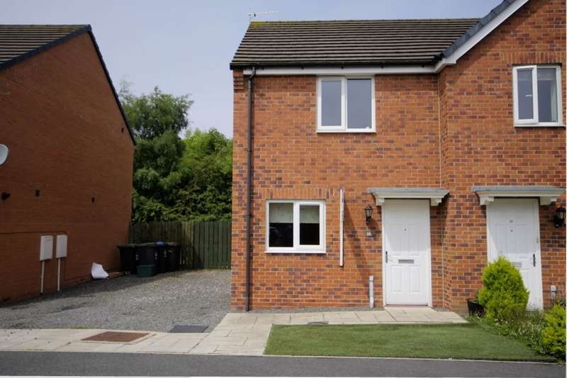 2 Bedrooms Semi Detached House for sale in Spiro Court, Consett, DH8