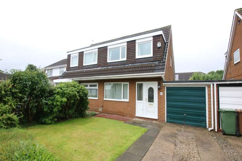 3 Bedrooms Semi Detached House for sale in Fountains Close, Washington, NE38
