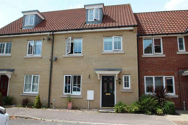 4 Bedrooms Town House for sale in Quantrill Terrace, Grange Farm, Kesgrave, Ipswich