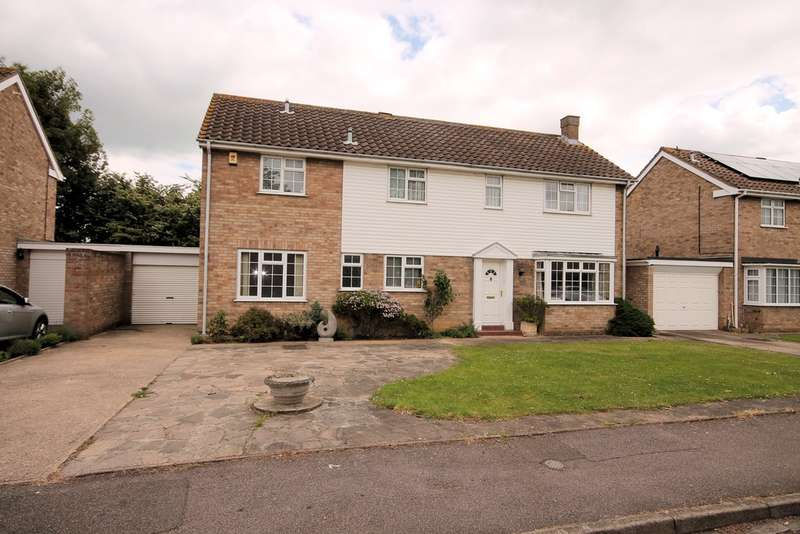 4 Bedrooms Detached House for sale in Honiton Way, Bedford, MK40