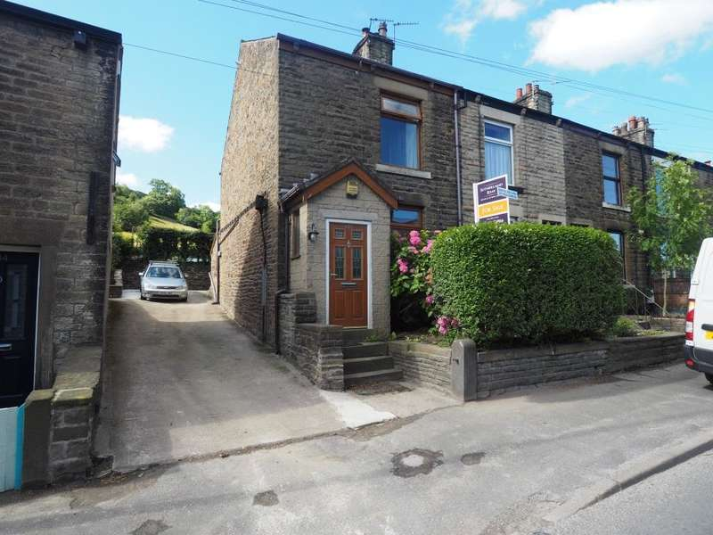 2 Bedrooms End Of Terrace House for sale in Buxton Road, New Mills, Newtown, High Peak, Derbyshire, SK22 3JT