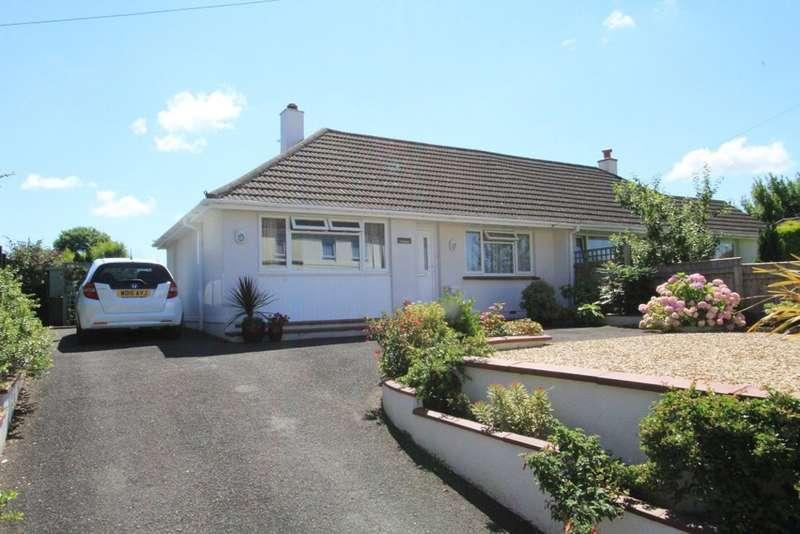 2 Bedrooms Semi Detached Bungalow for sale in Dornafield Road, Ipplepen, Newton Abbot