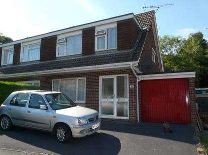 3 Bedrooms Semi Detached House for sale in Roselands, Paignton, Devon