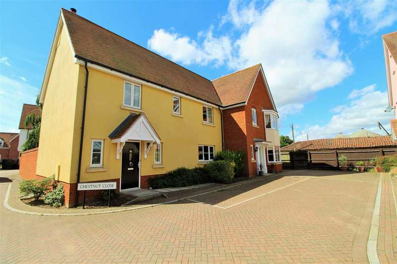 4 Bedrooms Semi Detached House for sale in Chestnut Close, Mile End, Colchester