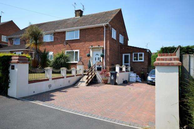 3 Bedrooms Semi Detached House for sale in Lovelace Crescent, Exmouth, Devon