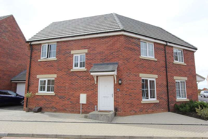 3 Bedrooms Semi Detached House for sale in 7, Drake Way, Dragonfly Meadows, Pineham, Northampton, Northamptonshire, NN4 9EL