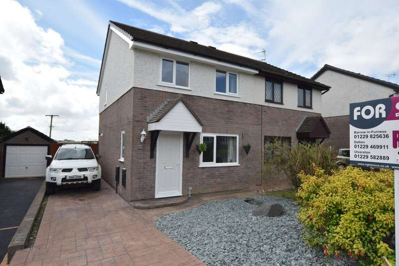 3 Bedrooms Semi Detached House for sale in Baycliff Drive, Dalton-in-Furness, Cumbria, LA15 8XE