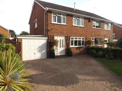 3 Bedrooms Semi Detached House for sale in Marlborough Avenue, Bromsgrove, Worcestershire