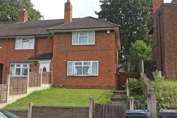 2 Bedrooms End Of Terrace House for sale in Jervoise Road, Birmingham, West Midlands