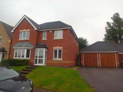 4 Bedrooms Detached House for sale in Hawley Close, Walsall, West Midlands