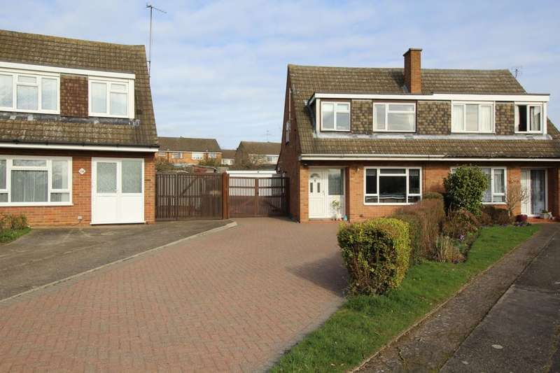 3 Bedrooms Semi Detached House for sale in Quantock Close, Putnoe, Bedford, MK41