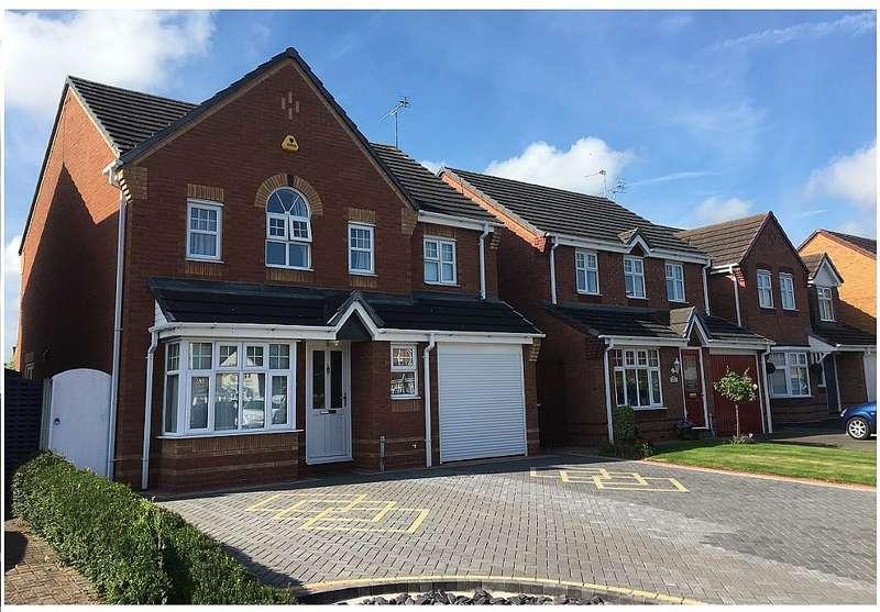 4 Bedrooms Detached House for sale in Moor Furlong, Stretton, Burton-on-Trent, Staffordshire, DE13 0PD