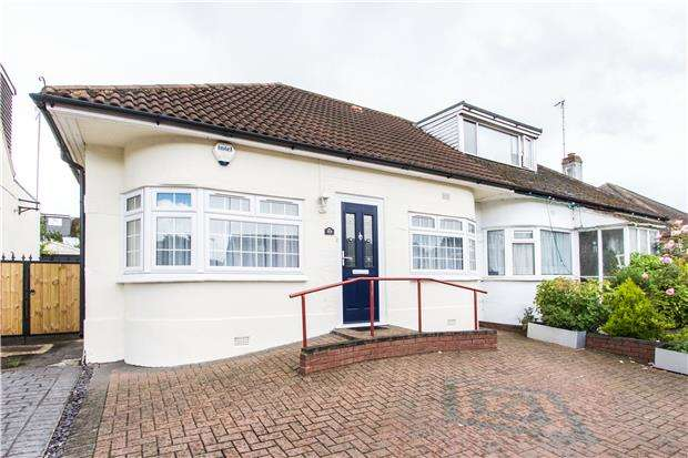 3 Bedrooms Semi Detached Bungalow for sale in Kinloch Drive, KINGSBURY, NW9 7JY