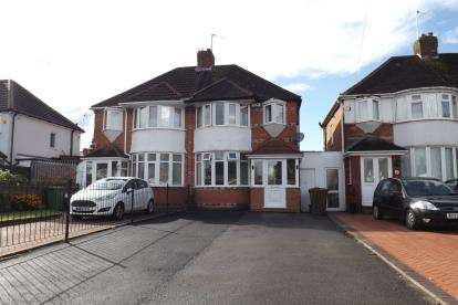 3 Bedrooms Semi Detached House for sale in Hobs Moat Road, Solihull, West Midlands
