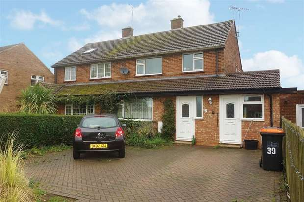 4 Bedrooms Semi Detached House for sale in Bush Close, Toddington, Dunstable, Bedfordshire