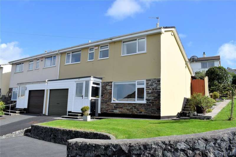 3 Bedrooms Semi Detached House for sale in Tregonning View, Porthleven, Nr Helston